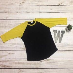 LuLaRoe Randy Shirt Black & Yellow